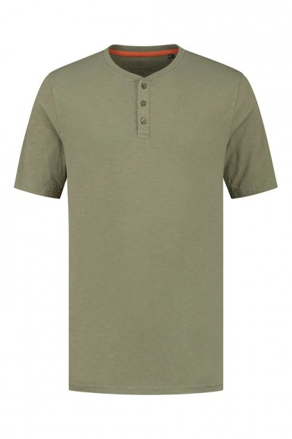 Kitaro T-Shirt - Button khaki