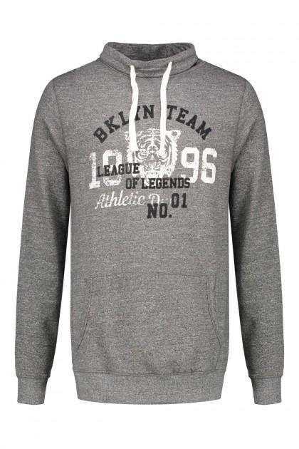 KItaro Sweater met kraag - Grey Melange