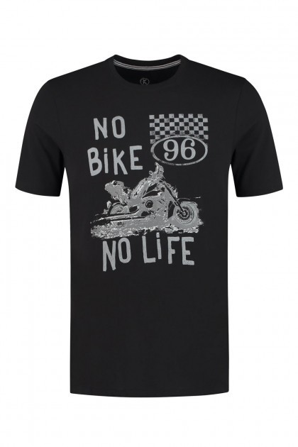 Kitaro T-Shirt - Bike Zwart