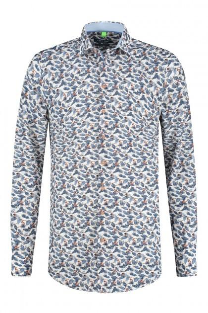 Ledûb Modern Fit Overhemd - Wit/Multi