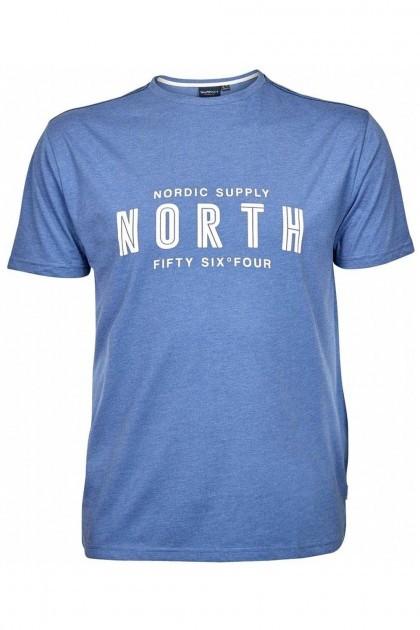 North 56⁰4 T-shirt - Logo Lichtblauw