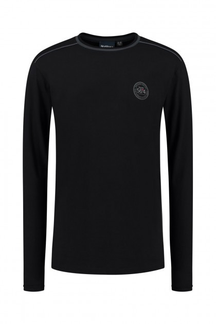 North 56⁰4 Longsleeve - Emblem Black
