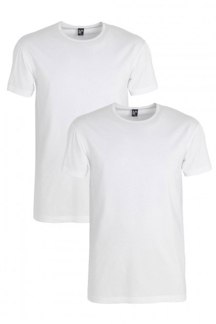 Alan Red Slim T-Shirt Ottawa extra lang (2-pack)