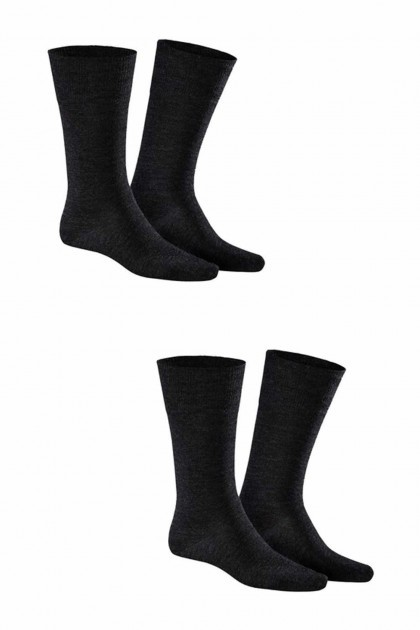 Kunert - Comfort Wool 2-Pack Black