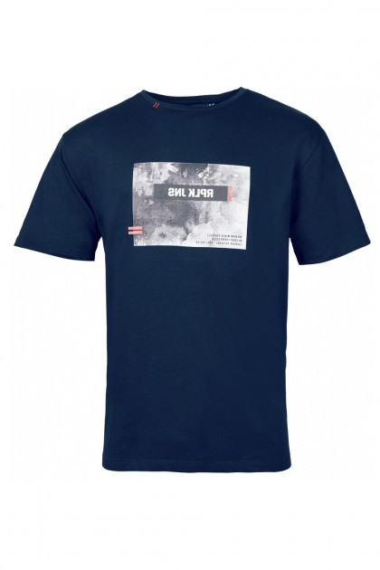 Replika Jeans T-Shirt - Print Navy