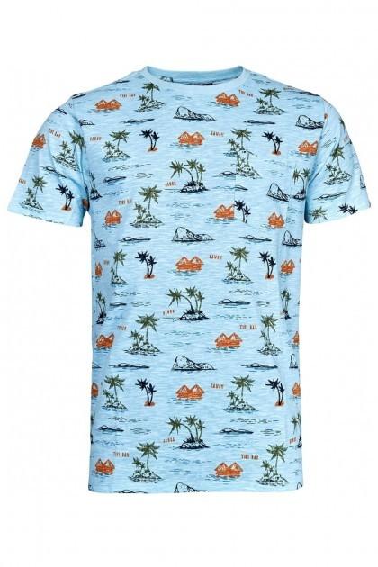 Replika Jeans T-shirt - Hawaii Light Blue