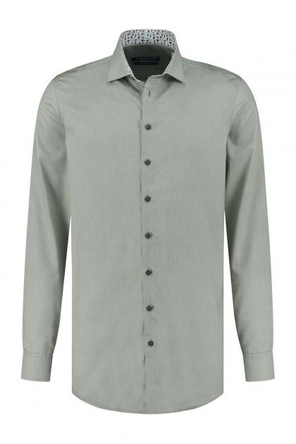 Ledûb Modern Fit Overhemd - Groen