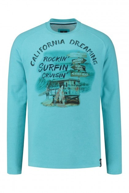 Kitaro Sweater - California Dreaming blauw