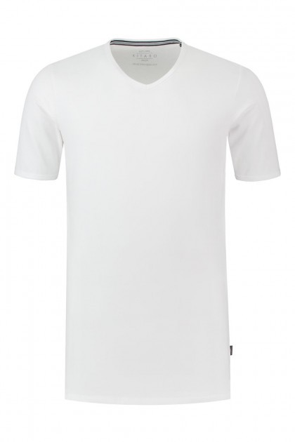Kitaro T-Shirt - Basic V-Hals wit