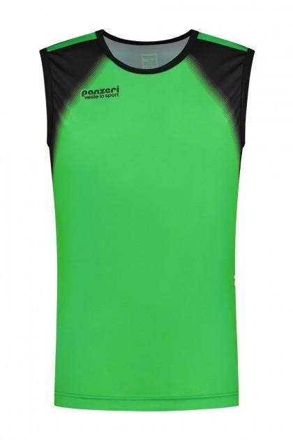 Panzeri Rio - Singlet groen/zwart