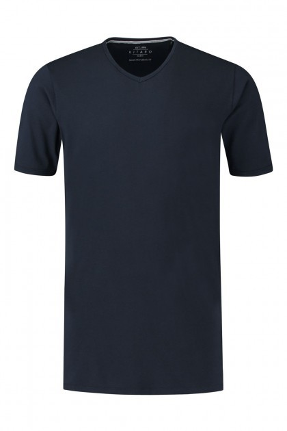 Kitaro T-Shirt - Basic V-hals navy