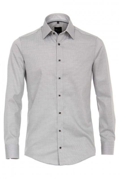 Venti Modern Fit Overhemd - Grijs-wit