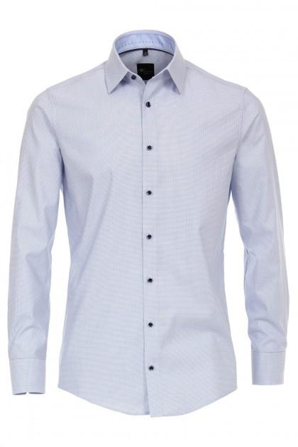 Venti Modern Fit Overhemd - Blauw-wit