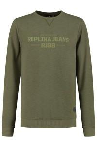 Replika Jeans Sweater - Replika RJ98 Olive Green