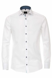 Venti Modern Fit Overhemd - Kent Wit