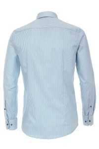 Venti Modern Fit Overhemd - Aqua Gestreept