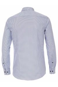 Venti Modern Fit Overhemd - Patroon Wit/Blauw