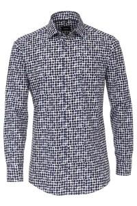 Venti Modern Fit Overhemd - Donkerblauwe bolletjes