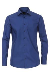 Venti slim fit overhemd donkerblauw