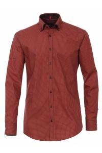 Venti slim overhemd rood