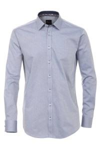 Venti slim fit overhemd blauw