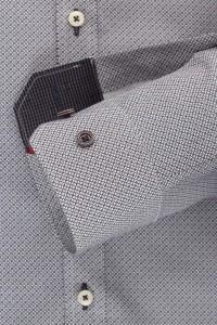 Venti body fit overhemd grijs
