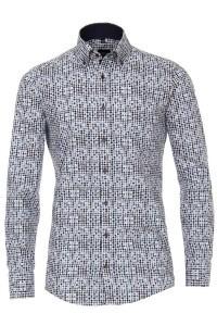 Venti Modern Fit Overhemd - Blauwe bolletjes