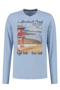Kitaro Longsleeve T-Shirt - Montauk lichtblauw