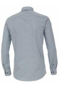 Casa Moda Casual Fit overhemd - Donkerblauw /Groen