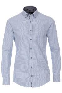 Casa Moda Casual Fit overhemd - Lichtblauw/geruit