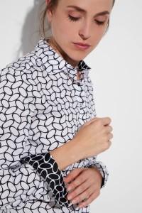 Eterna - Blouse Geometrisch Zwart/Wit