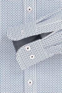 Casa Moda Casual Fit overhemd - Wit/Blauw