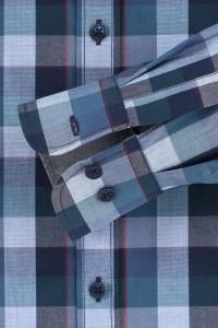 Casa Moda Casual Fit overhemd - Donkerblauw/geruit