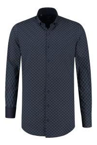 Corrino overhemd - Milano ruit blauw/wit