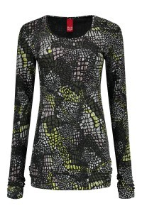Only M - Top Maglia groen/dessin