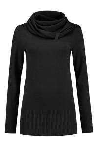 Only M - Pull met sjaal zwart