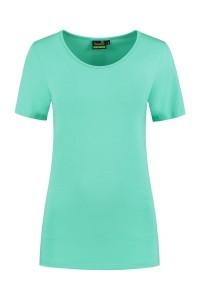 Sequoia - Basic top korte mouw licht turquoise