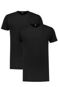 Alan Red T-Shirt - Derby Zwart extra lang/2-pack