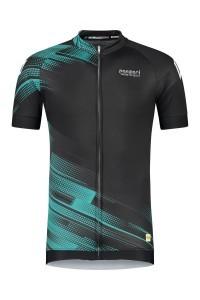 Panzeri Stelvio - Wielershirt zwart/turquoise