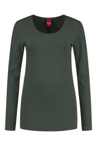 Only M - Basic O-neck top khaki