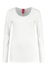 Only M - Basic O-neck top offwhite