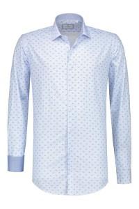 Corrino overhemd - Lichtblauw met patroon