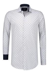 Corrino overhemd - Wit/blauw