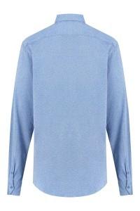 Blue Crane Slim Fit Overhemd - Hemelsblauw gemeleerd