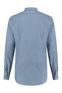 Blue Crane Tailored Fit Overhemd - Blauw/patroon