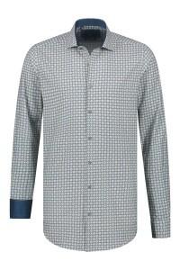 Corrino overhemd - Patroon blauw/geel