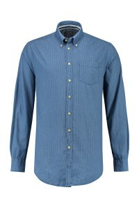 Kitaro overhemd - light indigo, mouwlengte 7