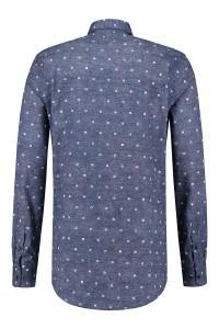 R2 Overhemd - Blauw print
