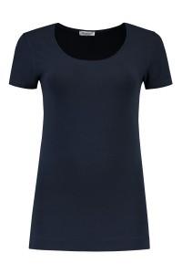 Basis T-shirt Korte Mouw - Donkerblauw