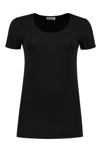 Basis T-shirt Korte Mouw - Zwart